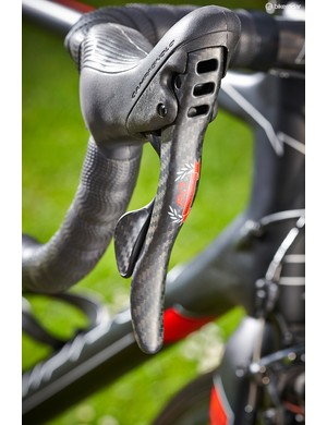 Campagnolo's 80th Anniversary Super Record kit, including the shifters…