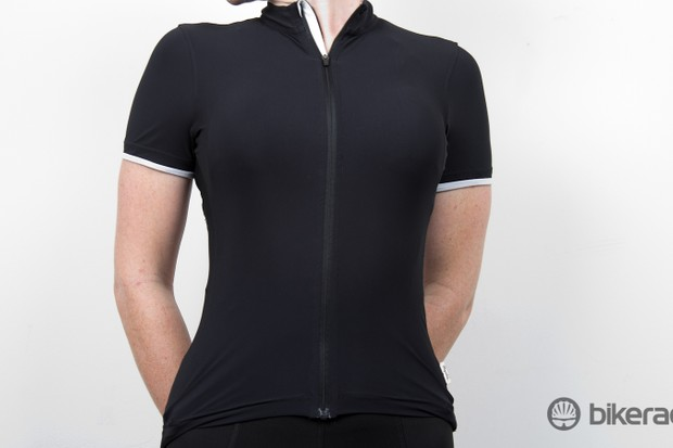 The Rapha Women's Souplesse jersey - our test size was a snug XS. The range extends from XXS to XL