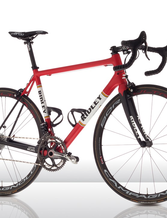 The Ridley Helium SL is built to be light and stiff for efforts in the mountains