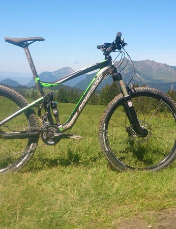 The new X-Control, shown here in the 327 guise, has a 120mm travel fork and 100mm travel rear suspension