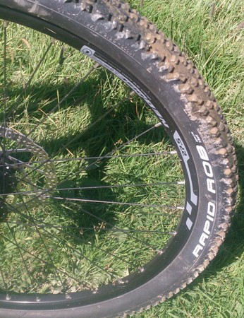 Schwalbe's Rapid Rob tyres roll fast, but are better suited to dry conditions