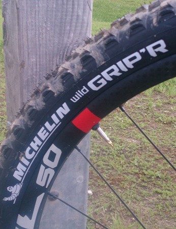 Michelin's Wild Grip'R tyres are new, and work very well