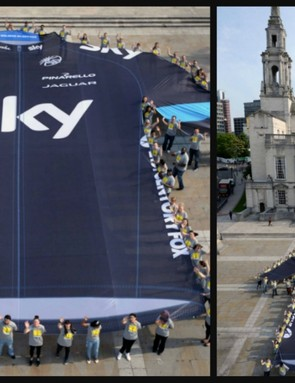 Sky employees have created the world's largest cycling jersey