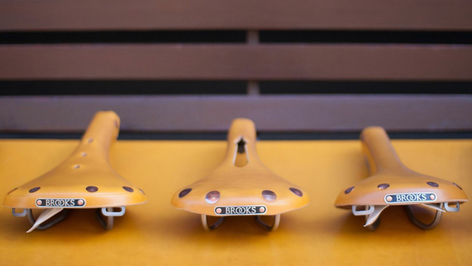 Brooks England has produced a special range of Ochre saddles to mark the Tour