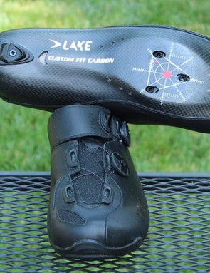 Lake's CX402 shoe features a moldable carbon sole and heel cup