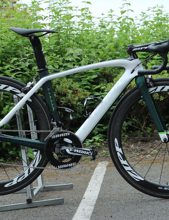 Mark Cavendish has ridden a 52cm Venge in the past, but he's on a 49cm S-Works model for the Tour