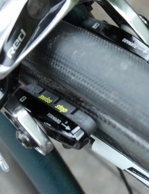 SwissStop pads handle braking duties. No HydroR brakes this year!