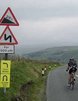 The climbs aren't easy...
