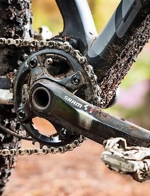 SRAM's single ring specific X01 drivetrain simplifies shifting