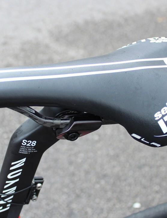 Trofimov uses a Sellle Italia Team Edition SLR