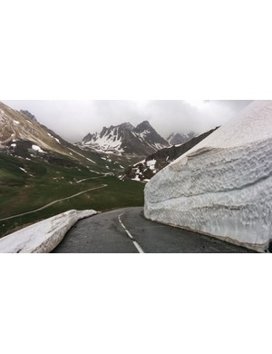 The Col du Galibier, one of the three most iconic climbs of the Tour de France