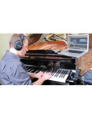 Our sound designer Thom Thomas-Watkins records the original score for these videos