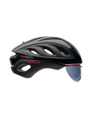 The new Bell Star Pro is a 'convertible' aero helmet, with operable vents and a removable shield lens