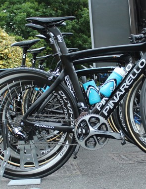 While riders get to choose many variations of their gear, including chainrings, this bike seems unusual
