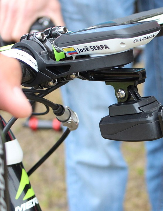 Lampre-Merida's José Serpa said Shimano asked each of its sponsored teams to put the camera on two riders' bikes
