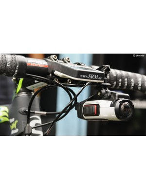 Garmin Virb and K-Edge mount on the bars of Marco Marcato's Cannondale