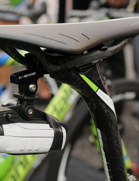 Garmin Virb camera and K-Edge mount on Elia Viviani's bike