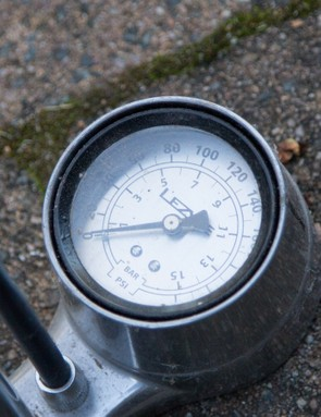 Gauge position is another factor with a floor pump — some are situated at the base of the pump, others at the handle
