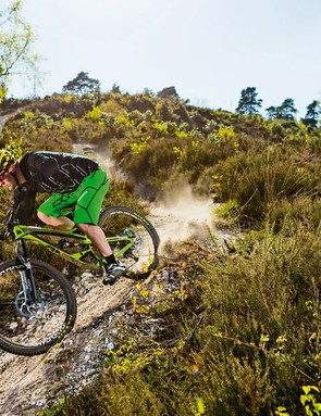 Point the Capra downhill and you'll feel like you're locked onto a rollercoaster track