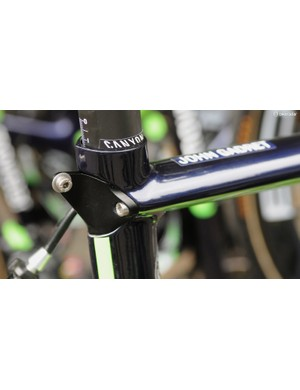 Movistar has a neat integrated number-plate holder