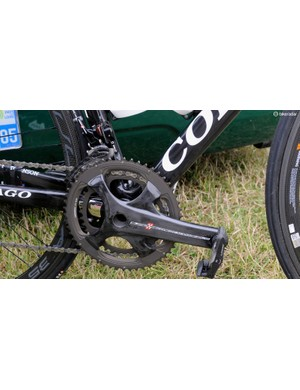 Campagnolo adopted a four-arm spindle with its new group, similar to the new Shimano Dura-Ace