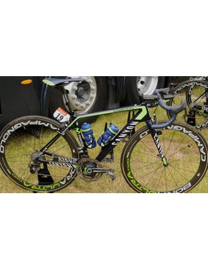 Movistar is using the Canyon Ultimate CF SLX (shown here) and the new Aeroad CF SLX models for road stages at the Tour