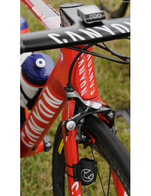 Rodriquez is the one Katusha rider using the new integrated bar/stem from Canyon. The rest have Ritchey cockpits (one integrated, the other seven traditional bars and stems)