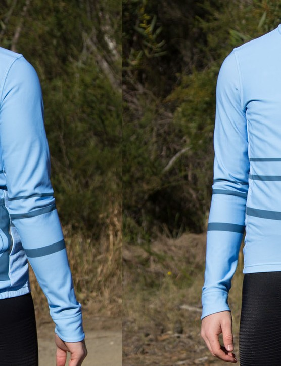 The Chill Block Fleece jersey is new to the Pedla lineup