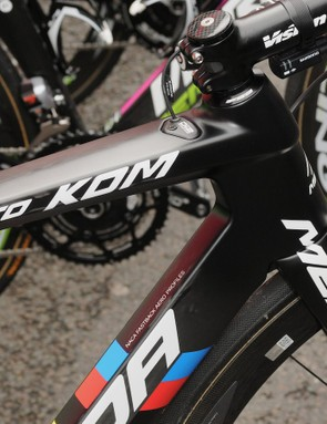The complete KOM bike sheds around 500g in weight compared to the Reacto Evo ridden by the majority of the team