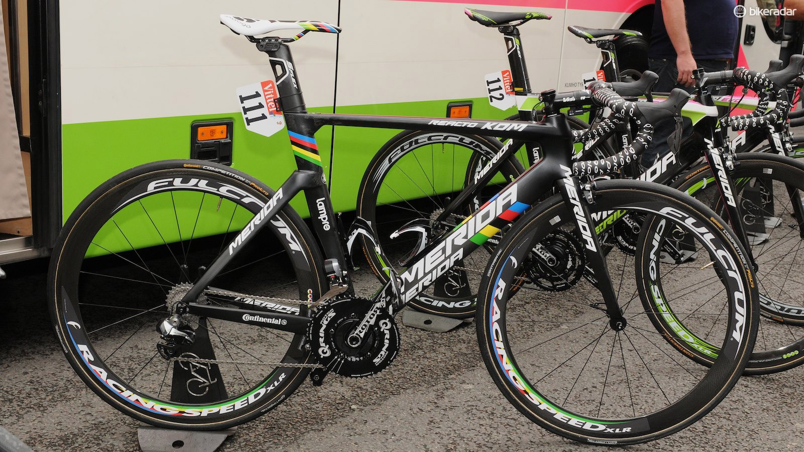 As team leader, Rui Costa is the only Lampre-Merida rider to have the new Merida Reacto KOM frame at the Tour de France