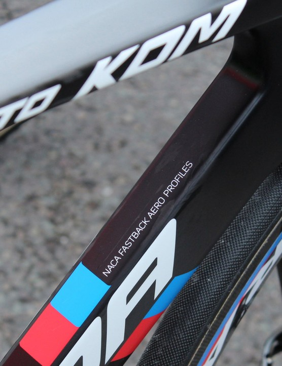 The Reacto KOM shares the EVO's Kamm Tail-heavy aero shaping but uses lighter carbon fibre and a new layup