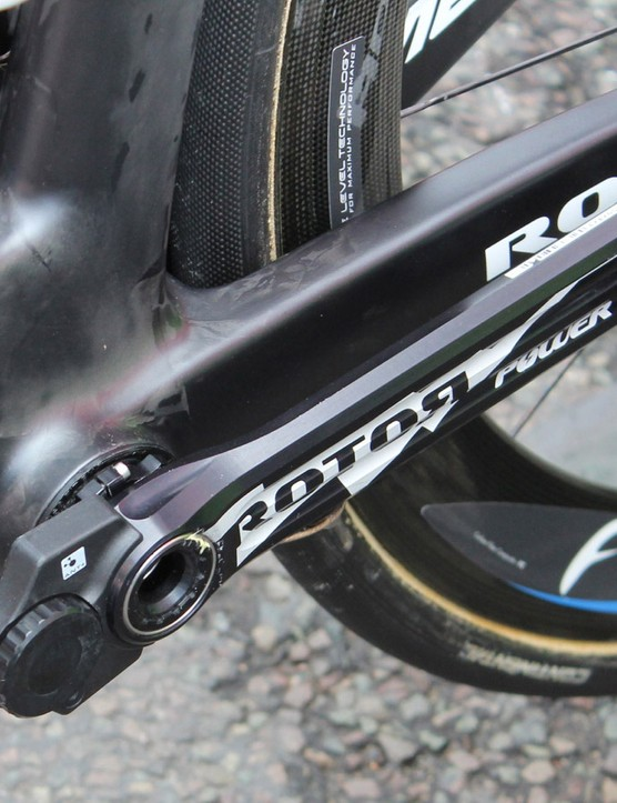 Costa and the rest of his team have Rotor Power LT cranks, as well as Power2Max powwer meters