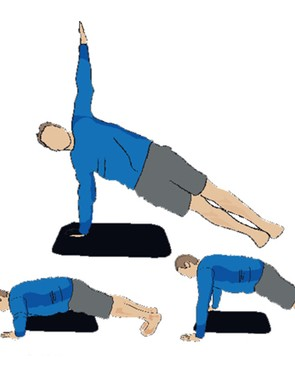 Press-up with twist to side plank - takes the humble press-up to a new level