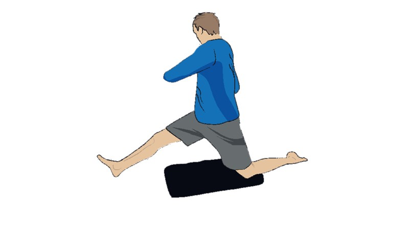 The PSOAS/hamstring counter-stretch will improve core strength and balance