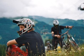 Full-face helmets offer extra protection on the trail