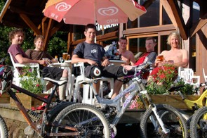 The apres-bike scene is just as much fun as the riding