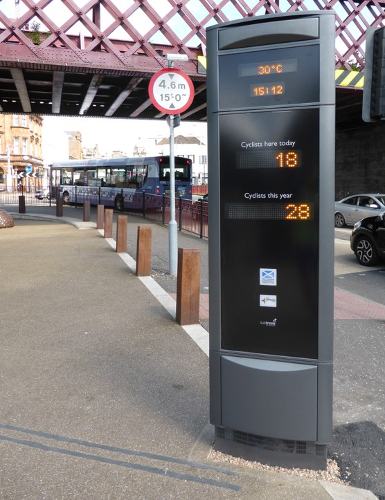 Counters in Edinburgh (Middle Meadow Walk), Coatbridge (pictured) and Union Canal have already been powered up, the other six are expected soon