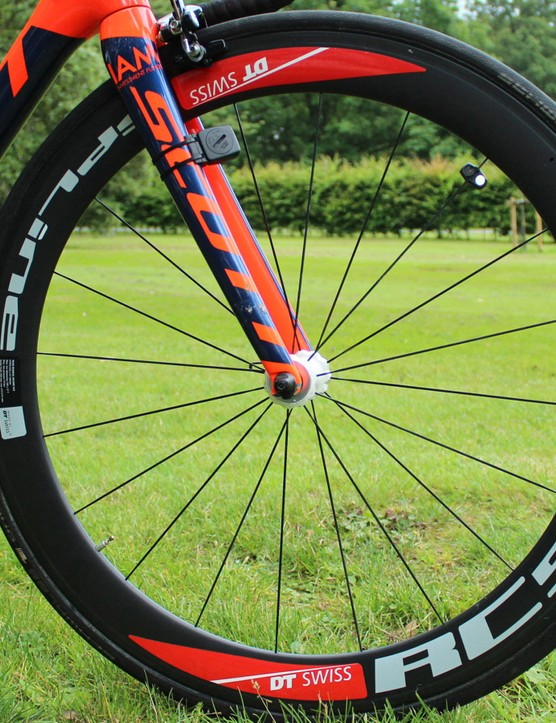 Swiss wheels for a Swiss team. More specifically, IAM uses DT Swiss RC55T tubular wheels