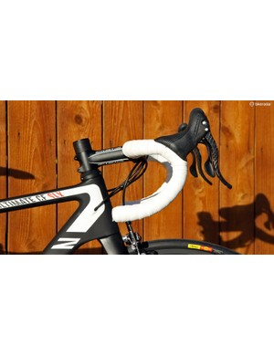The Ritchey EvoCurve aluminum bars are stiff and comfortably shaped