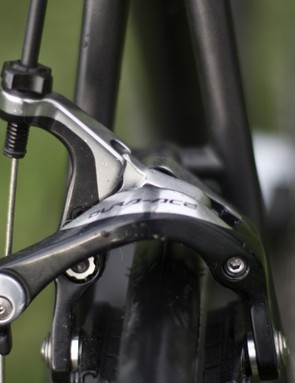 Dura-Ace brakes offer plenty of stopping power