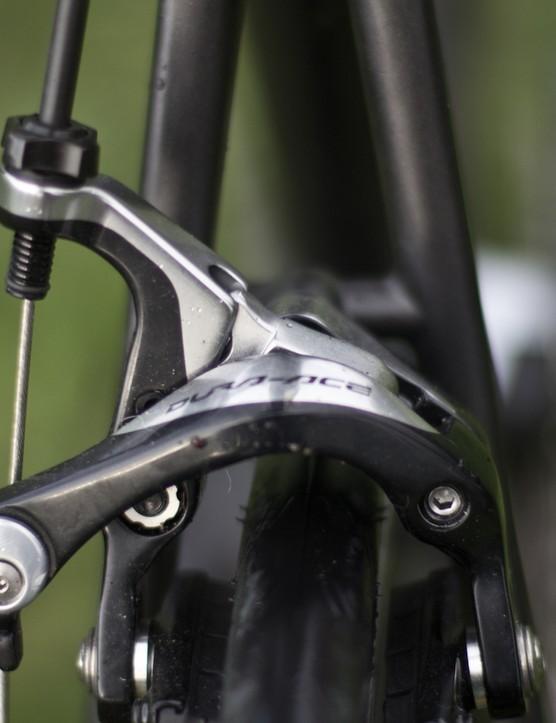 Dura-Ace brakes offer plenty of stopping power