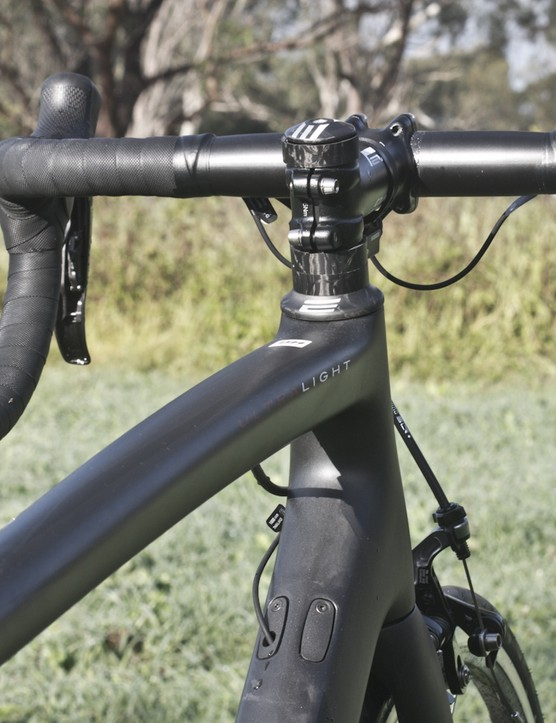 The sloping top tube of the BH Ultralight