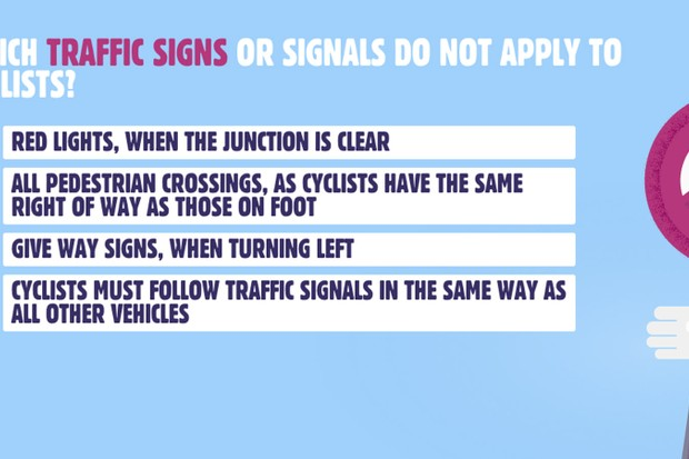 An online quiz will test your knowledge of cycling laws