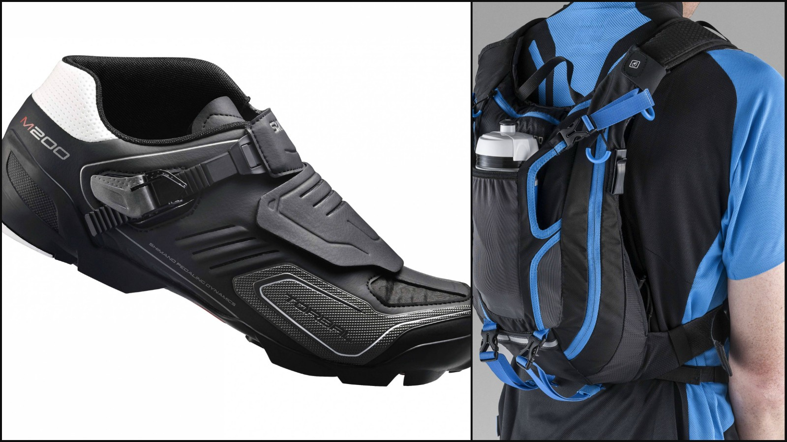 Shimano's new enduro shoe and backpack