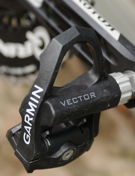 As he has an SRM power meter, Van Summeren's Garmin Vector pedals are fitted minus the battery and accelerometer pods
