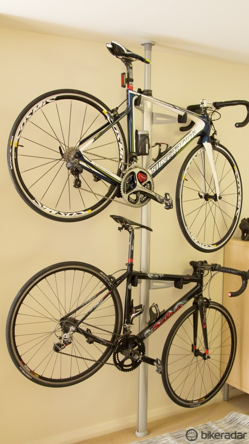 With a load capacity of 18kg per bike, most road, commuting and mountain bikes will fit without issue