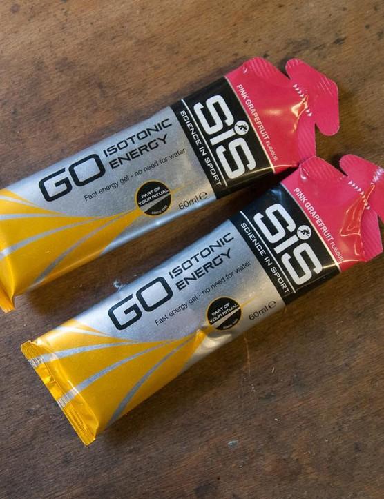 SIS Go gels in grapefruit flavour