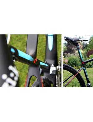 Much of Giant's ride quality claims can be sourced to the so-called 'D-Fuse' seatmast and seat tube shape, which features a flattened back side that is said to flex more than a round or oval profile