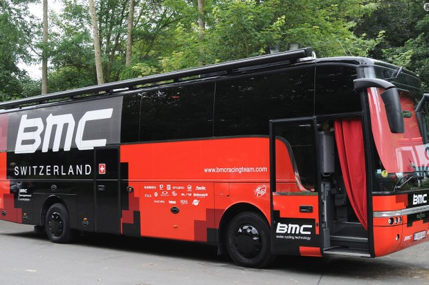 The newest of BMC's two team buses isn't the biggest in the peloton, but packs in all a pro rider could need