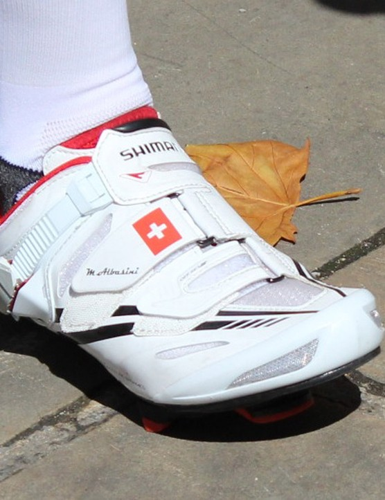 Marco Albasini looks to have a fairly wide foot, given the strap placement